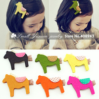 New cute pony children hair clips/6color fashion hair barrettes Lovely Baby/girl hair accessories Free shipping 8Pcs/Lot FJ15896