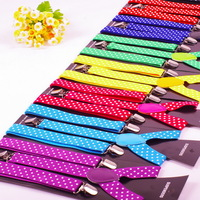 2.5cm print adjustable suspenders