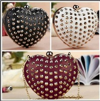 Free shipping!! 2013 Spring fashion rivet core evening bag for lady G20508