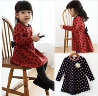 autumn and winter female children's clothing skirt 100% cotton children one-piece baby princess skirt