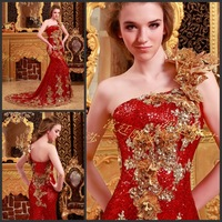 Luxury crystal toast the bride married  evening dress formal dress