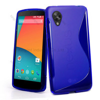 1000pcs/Lot TPU S  Line GEL Case Cover for LG Nexus 5 E980