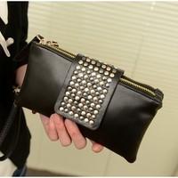 2014 rivet clutch fashion day clutch fashion brief vintage small bag clutch bag female wallet