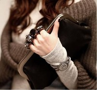 Fashion 2013 clutch bag day clutch vintage skull ring bag women's handbag evening bag