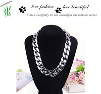 Free Shipping European and American  stye female silver chain necklace A271