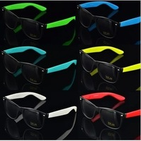 Free Shipping!2013 Fashion New Goggles Unisex Wayfarer New 80s Style Joint Multi-coloured Summer Shade UV400 Sunglasses
