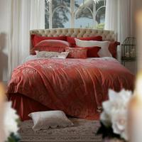 Fashion home textile bedding luxury egyptian cotton red wedding four piece set salma