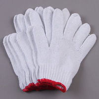 Free shipping by FedEx 600 pairs/lot White safety gloves wear-resistant slip-resistant gloves line work gloves mechanical gloves