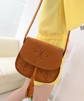 2013 fashion summer vintage small bags small bag women's handbag one shoulder cross-body tassel women's small messenger bag