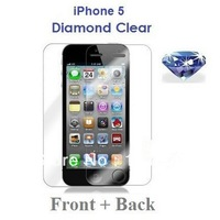 100pcs Glitter Diamond Clear Full front and back screen protective film for iphone 5 5s screen protector guard
