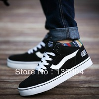 New brand Men's Canvas shoes High British style casual Single shoes popular trend Skateboarding running shoe sneakers for men