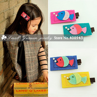 New cute fish children hair clips/8color fashion hair barrettes Lovely Baby/girl hair accessories Free shipping 8Pcs/Lot F45218