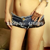Sexy women Jeans Short Shorts Hot Pants Denim & Lace Low Waist Daisy Dukes Girls 12060712