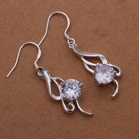 Free Shipping 925 Silver Earrings Fashion Jewelry Earrings Whitehead checkered Earrings E271
