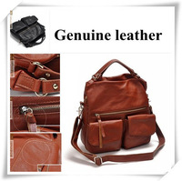 Design Hardware Accessories Women's Genuine Leather Handbag Formal One Shoulder Cross-body  Messenge Bag Free Shpping
