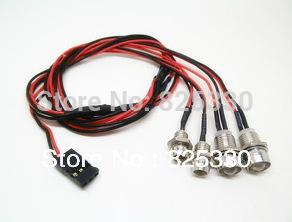 RC 1:10 Model Car Night 5mm & 3mm headlamps headlights LED light Drift Car(China (Mainland))
