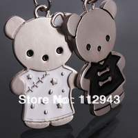 Keychain Metal Solid Personality Keychains Cheongsam Cubs Couple Keychain Creative Product Novelty Items Gift Funny jewelry