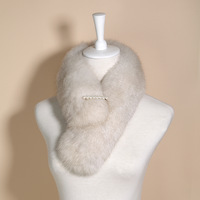 Quality full leather fox fur muffler scarf fox fur collar the son long design autumn and winter fur scarf