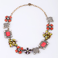 Free shipping Fashion fashion accessories medium-long royal women's flower vintage necklace