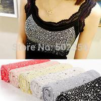 Summer fashion neckline rhinestones spaghetti strap cotton thread all-match shoulder strap lace decoration small vest