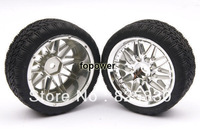 4pcsxRC Flat Racing Tires Tyre Wheel Rim Fit HSP HPI 1:10 On-Road Car 1008-8006
