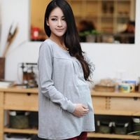 2014 Spring Autumn Maternity Clothes Pregnant Women Basic Shirt Long-Sleeve T-Shirt Gravida Female Casual Tops Tees Freeshipping