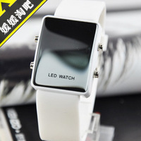 Free shipping Hot-selling fashion led jelly watches girl rhinestone table all-match electronic watch