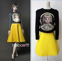 New Arrivel Super Star A Dress for Women Fashion Vintage  and Long sleeve-Tshirt
