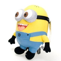 NEW Lot 1 Pcs Despicable Me Minion 3D Eyes Plush Toy Minions 9 Stuffed Doll