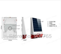 Wireless Outdoor big strobe Solar powered Siren Alarm with LED flashing response sound chooseable 130 dB