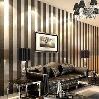 10m/lot  Non-woven Wallpaper Stripe Wall Paper Roll Modern Wall Art Home Decoration