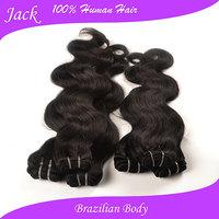 Queen Weave Beauty Ltd Unprocessed Virgin Brazilian Body Wave 6 Bundles Of Virgin Brazilian Hair Mocha Brazilian Hair 60g/pcs