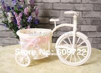 New Rattan Basket Big Party Flower Pots Planter in home decor Wedding Table Tricycle Car Vase Pink  FL1154 decorativos