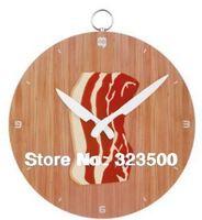 Creative Plastic Bacon Wall Clock Home Decor 2 Models