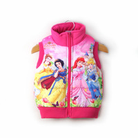 Export high-quality WINX brand 2013 spring Newest children's cartoon Snow White cotton vest girl Positioning printing waistcoats