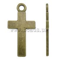 Free shipping!!!Zinc Alloy Cross Pendants,Women Jewelry, antique bronze color plated, nickel, lead & cadmium free, 13x24.50x1mm
