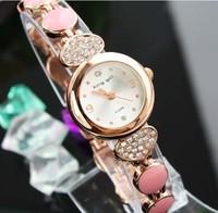 (Minimum order $ 10) 2014 new Brand casual Luxury crystal quartz bracelet watch women watches fashion gift LW139
