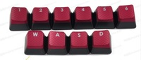 Original Free Shipping Nonopaque Hollow out  Red Keys Grid Keycaps for Mechanical Keyboard Dota 2 backlight LOLWOW