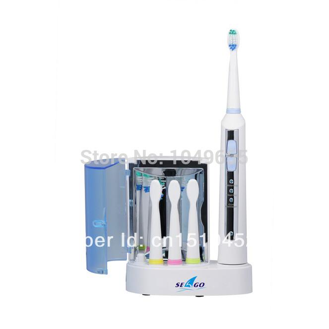 Seago sg908 rechargeable. électrique brosse à dents sonique avec stérilisateur uv