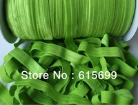 Solid Color FOE Ribbon- 23 colors-#550 Apple Green- hair elastic