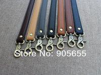 Free shipping wholesale 20pcs/lot high quality double layer PU leather Bag handle.Handbag Belt DIY Buckle bag accessories handle