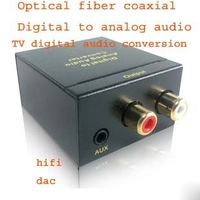 Optical fiber coaxial & Digital to analog audio decoder & TV Digital audio conversion & Hifi & Dac & Free shipping