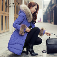 2013 autumn and winter medium-long Women women's thin coat medium-long down slim
