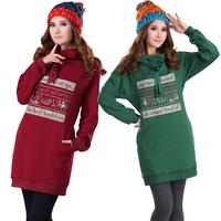 Brand Plus Size Women  Clothing Long Design Sweatshirt Autumn And Winter Thickening Plus Velvet Hooded Loose XL-XXL-XXXL-XXXXL