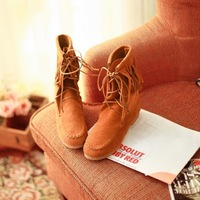 Hot-selling 2013 sweet tassel high boots anti-slip soles