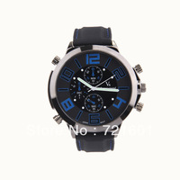 Vogue V6 Quartz Hours Analog Silicone Bnad Watch Fashion Men Luxury Wristwatches Wholesale DHL Free Shipping 100pcs
