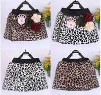 4 pcs/lot 2013 NEW Fashion Girls Skirts Children Kids Leopard Autumn Wear Zepper Design Hot Selling TT197