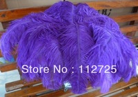 "EMS Free Shipping 100pcs/Lot 45-50cm 18-20"" Purple dyed Ostrich Feathers Ostrich Plumes Wedding centerpieces Ostrich Drabs"