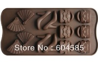 14 Cavities Silicone Oven Budding Ice Cream Cake Candy Making Molds Cake Pans Handmade DIY Biscuit Chocolate Mold