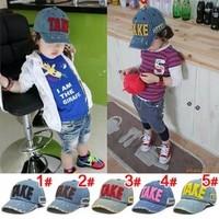 2013 Hot TAKE Letters Fashion Hole Decorate Kids Snapeback Baseball Cap Children Cowboys Hat 4 Colors For Choose